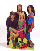 thumbnail link to original 1978 ABBA small in-store standee