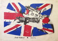 thumbnail link to original 1976 Sex Pistols promo poster Anarchy in the UK, smaller version