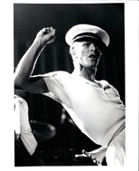 thumbnail link to original Andrew Kent photo Bowie on stage Isolar II Tour.