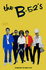 original B52s promo poster for album The B52s