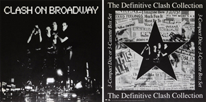 original 1991 Clash on Broadway card srock promo poster pair
