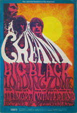 thumbnail link to original 1968 Bill Graham concert poster Cream at Fillmore and Winterland