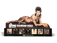 thumbnail link to original David Bowie Diamond Dogs card stock in-store display.