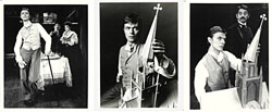 thumbnail link to three original David Bowie publicity photos The Elephant Man.