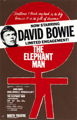 thumbnail link to original David Bowie Elephant Man stage poster.