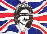 thumbnail link to original Virgin Records Sex Pistols God Save The Queen 1977 promo poster