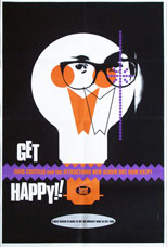 thumbnail link to original Stiff poster proof Elvis Costello Get Happy Barney Bubbles design