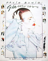thumbnail link to original David Bowie Edward Bell poster Glamour