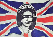 thumbnail link to original Virgin promo poster Sex Pistols God save The Queen
