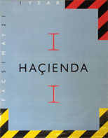 thumbnail link to original 1983 Hacienda first birthday party poster.