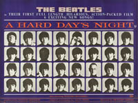 thumbnail link to original 1964 Quad poster Beatles A Hard Day's Night
