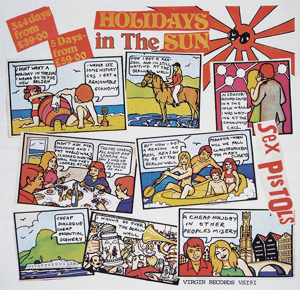Sex Pistols Holidays in the Sun original withdrawn Belgian tourist poster