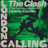 original green version 24 x 24 inches CBS UK overseas promo poster, The Clash London Calling