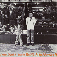 thumbnail link to original U.S. Arista/Stiff Ian Dury New Boots and Panties promo poster
