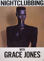 original Grace Jones Island poster Nightclubbing