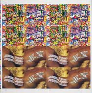 thumbnail link to original Happy Mondays Pills and Thrills sleeve proof.