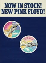 thumbnail link to original 1975 Pink Floyd Wish You Were Here Now in Stock promo poster