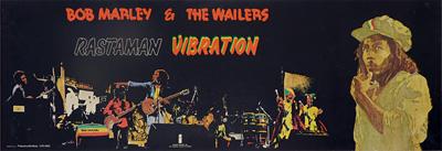 thumbnail link to original Island promo poster for Bob Marley Rastaman Vibration