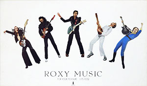 thumbnail link to original Roxy Music For Your Pleasure promo poster, white background version