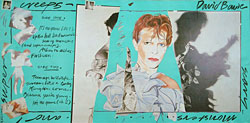 thumbnail link to original David Bowie Scary Monsters large RCA in-store display, blue version.