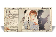 thumbnail link to original David Bowie Scary Monsters large in-store card display.