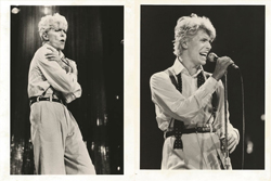 thumbnail link to two original Serious Moonlight tour press photos Bowie performing