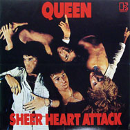 thumbnail link to original 1974 Queen Sheer Heart Attack promo poster