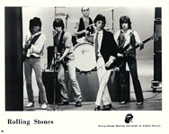 thumbnail link to original 1978 Rolling Stones Records black and white promo still, 10
