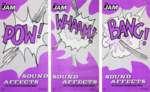 thumbnail link to original American promo poster set The Jam Sound Affects