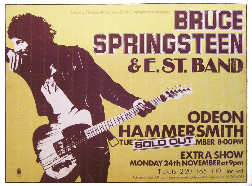 Vintage original music and rock posters for sale ...