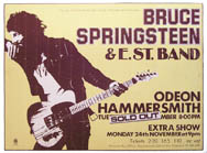 thumbnail link to original 1975 promo poster Bruce Springsteen at Hammersmith Odeon