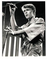 thumbnail link to original David Bowie Rik Walton 1978 Stage tour photo.