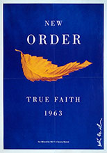 thumbnail link to original 1987 Factory Records poster New Order True Faith.
