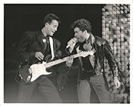 original 1986 press photograph Wham! farewell concert Wembley Stadium 28 June 1986