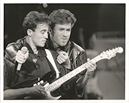 thumbnail link to original 1986 press photograph Wham! at Brixton Academy 24 June 1986