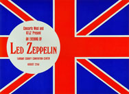 thumbnail link to original Led Zeppelin Concert flyer Fort Worth August 22nd 1970