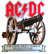 AC/DC For Those About to Rock original Atlantic promo cut-out