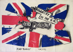 thumbnail link to original EMI promo poster Sex Pistols Anarchy in the UK