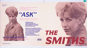 thumbnail link to original 1987 Rough Trade 12 inch sleeve proof The Smiths Ask.