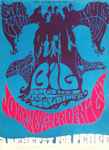 thumbnail link to original 1967 Bindweed Press concert poster Big Brother, Janis Joplin, Steve Miller Band