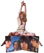 thumbnail link to original Rolling Stones promo standee Black and Blue, bondage image