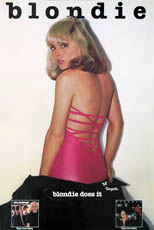 thumbnail link to original 1978 Chrysalis promo poster Blondie: Blondie Does It