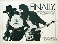 thumbnail link to original 1975 CBS promo poster Bruce Springsteen Finally