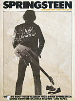 thumbnail link to original Bottom LIne club gig promo poster Bruce Springsteen 1975