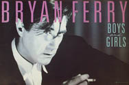 Original 1985 Bryan Ferry Boys and Girls Island promo poster