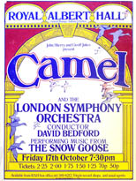 thumbnail link to original 1975 Camel Snow Goose Royal Albert Hall concert poster