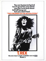 thumbnail link to original 1972 EMI promo poster T.Rex Children of the Revolution