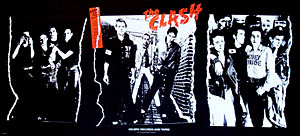 thumbnail link to original U.S. Epic Records promo poster The Clash first album
