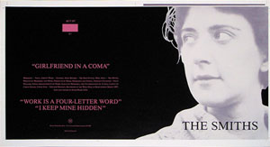 thumbnail link to original The Smiths Girlfriend In A Coma Rough Trade Records sleeve proof.