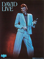 thumbnail link to original David Bowie David Live promo poster.